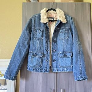 Abercrombie and Fitch Quilted Denim Jacket